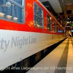 Außenansicht eines Liegewagens der DB Nachtzug