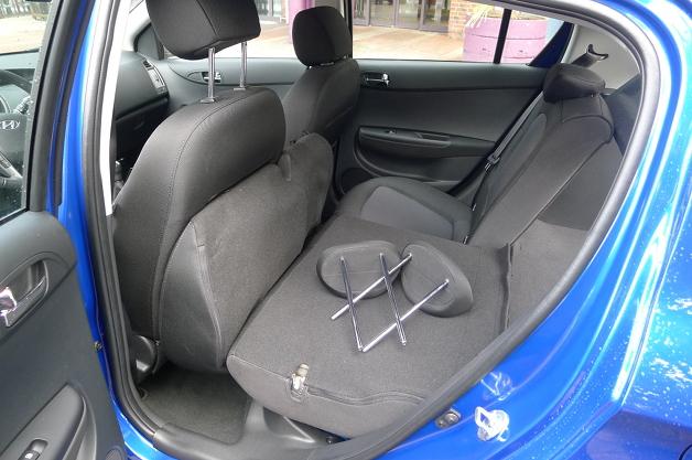 Hyundai i20 Kofferraum-wohin mit den Kopfstützen?