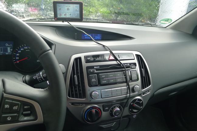 Hyundai i20 innen-wo bitte geht's zur Navi