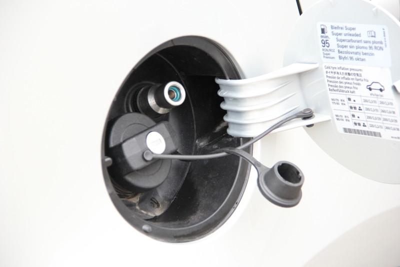 Hier wird gespart-Tankstutzen für Erdgas
