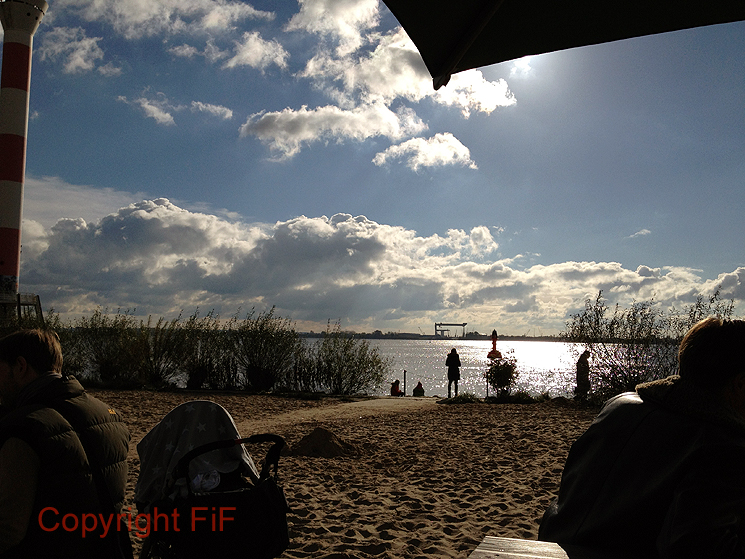 Romantik pur am Strand vor Kajüte S.B.12