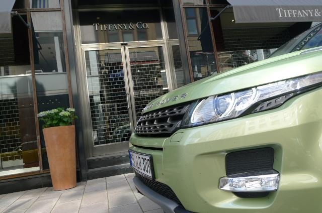 Range Rover Evoque-Das Gesicht in der Menge