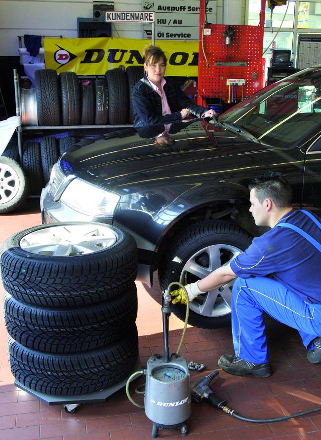 Auf Nummer sicher-Reifenwechsel im Frühjahr